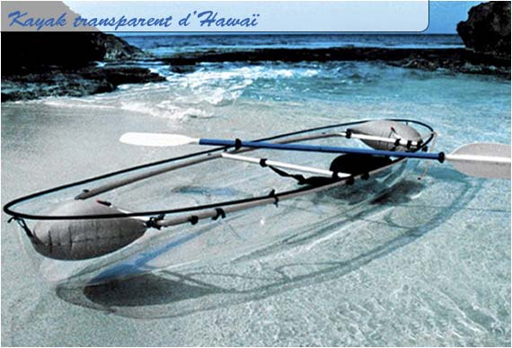 Les kayaks transparents à Hawaï