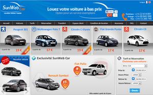 Agence SunWebCar: location voiture en Tunisie à bas prix.