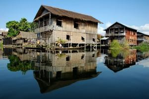 village flottant du lac Inle