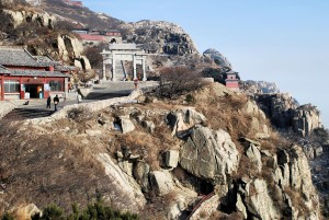 Numerous Taoist temples and shrines on the slope of Taishan, Shandong