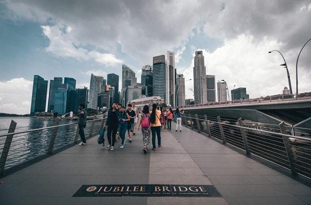 jubilee bridge singapour